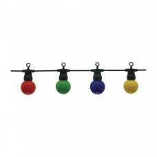 Outdoor string, 13m long with 20x color light bulbs included