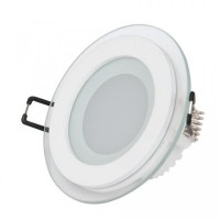 6W round LED built-in LED panel with Samsung SMD, IP20, 600Lm, 3000K