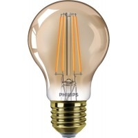 Dimmējama PHILIPS 8W Retro Vintage A60 E27 Filament LED spuldze, 630Lm, 2200K - 8718696841549