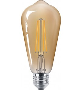 Dimmējama PHILIPS 8W Retro Vintage ST64 E27 Filament LED spuldze, 630Lm, 2200K - 8718696814352