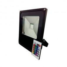 30W LED RGB floodlight with remote control, 1800Lm, 150°, IP66 - FL5212