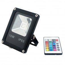 10W LED RGB floodlight with remote control, 600Lm, 150°, IP66 - FL5210 - 3800156652101