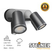 SPOT DUO ar kustību sensoru, 2x GU10, 2x 7W, 2x 520Lm, gaismeklis - Steinel