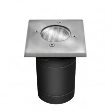 In-ground lighting fixture BERG, JDR Gu10 max. 35W, IP67, stainless steel